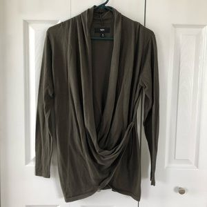 4/$25 Mossimo Green Cross Buttoned Cardigan